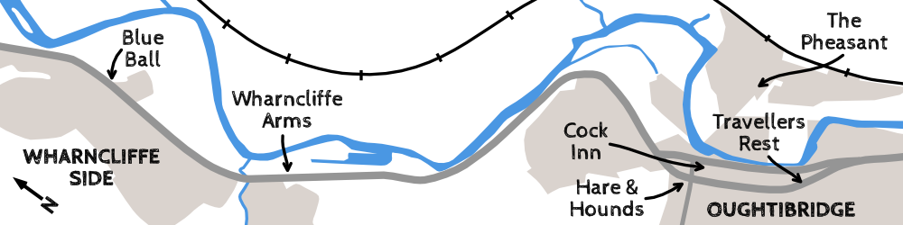 Oughtibridge and Wharncliffe Side Map