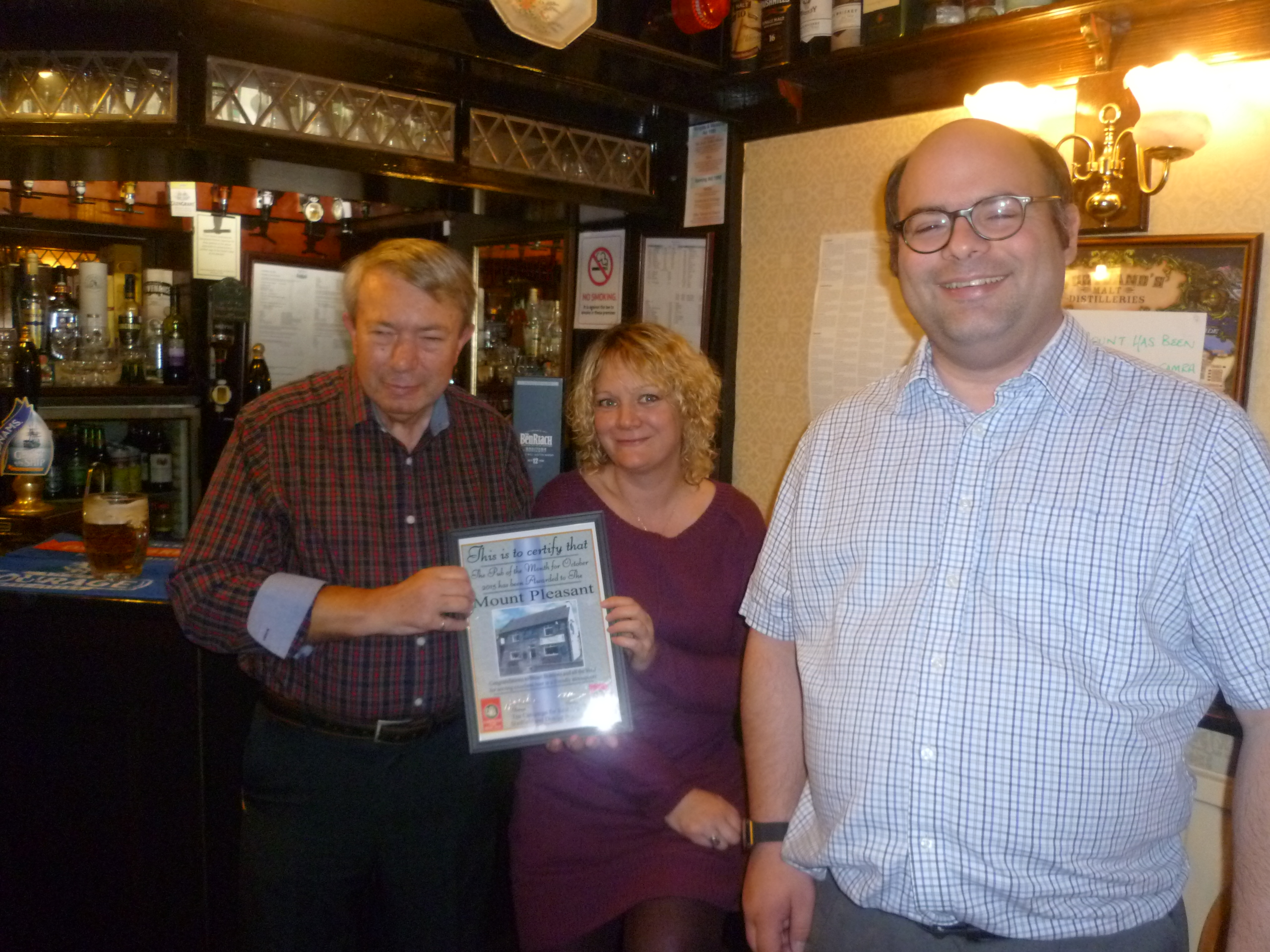 October Pub of the Month at the Mount Pleasant, Norton Woodseats