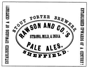 Thomas Rawson Brewery Porter Ad c1900