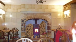 old hall fireplace
