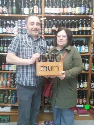 Derbyshire trip apr16 raffle winner Kathy Clark