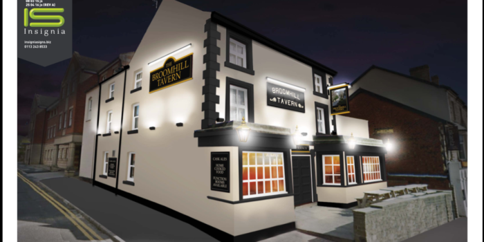 Broomhill Tavern Night exterior. [1609719]