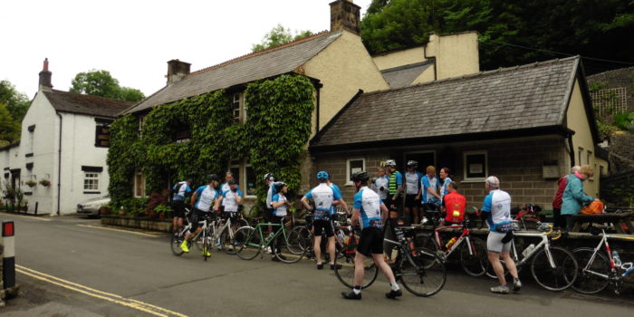 Christie cyclists at Anglers