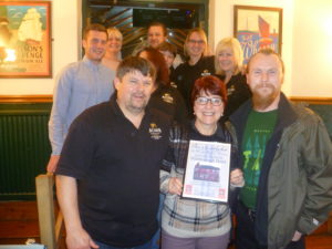 November 2016 Pub of the Month presentation at the Hillsborough Hotel