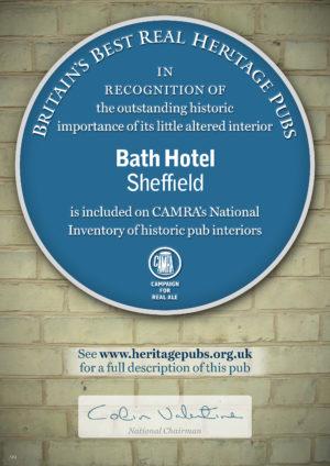 Bath Heritage Certificate 2016