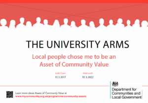 UNI ARMS ACV CERTIFICATE