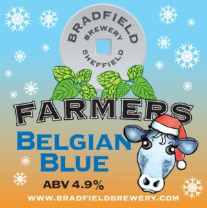 Bradfield Brewery Belgian Blue beermat.indd
