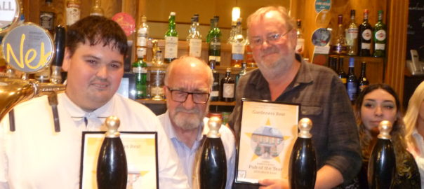 30dbffc8d46e1e Gardeners' Rest -presented with overall Sheffield Pub of the Year award
